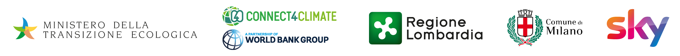 All4Climate Italy 2021 Partners logos